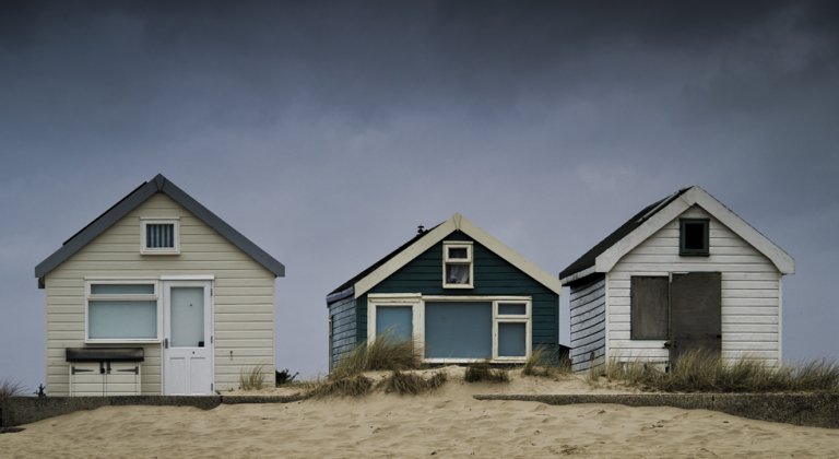 Beach huts at Mudeford, Dorset.